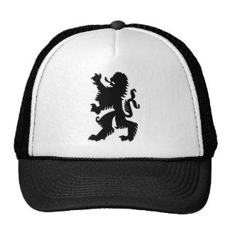 Black Bavarian Lion Cap