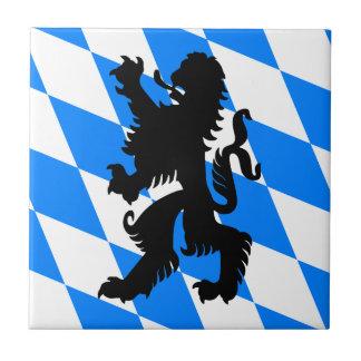 Black Bavarian Lion Ceramic Tile