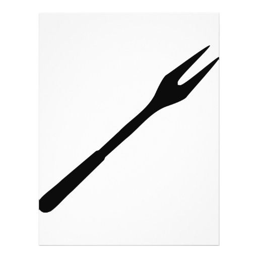 black BBQ fork icon Personalized Flyer