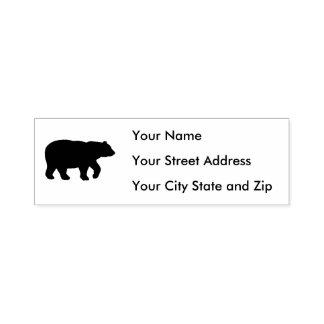 Black Bear Address Self-inking Stamp