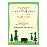 BLACK BEAR Adirondack Lodge 5x7 Party Invitation 13 Cm X 18 Cm Invitation Card