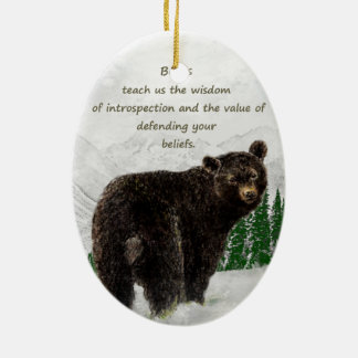 Black Bear Animal totem Inspirational Spirit Guide Ceramic Ornament