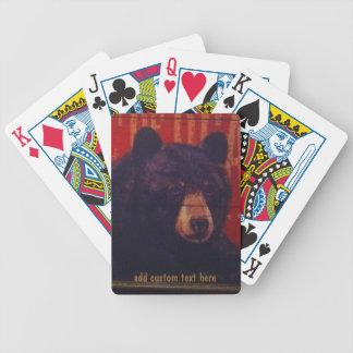 Black Bear Art Playing Cards