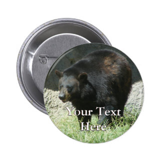 Black Bear Button