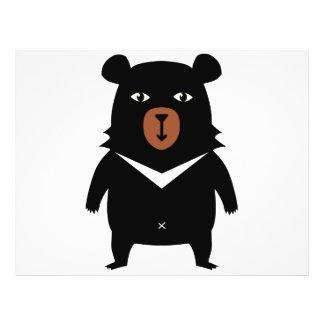 Black bear cartoon 21.5 cm x 28 cm flyer