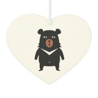 Black bear cartoon car air freshener