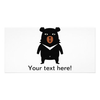 Black bear cartoon card