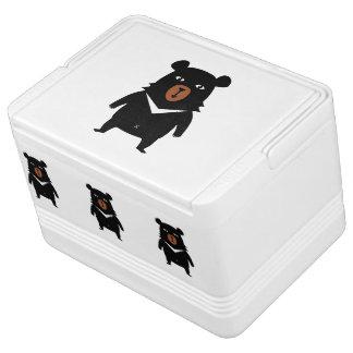 Black bear cartoon cooler