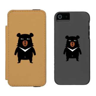 Black bear cartoon incipio watson™ iPhone 5 wallet case