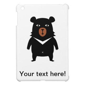 Black bear cartoon iPad mini case