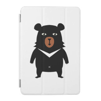 Black bear cartoon iPad mini cover