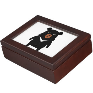 Black bear cartoon keepsake box