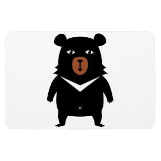 Black bear cartoon magnet