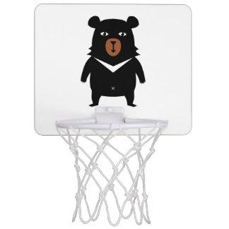 Black bear cartoon mini basketball hoop