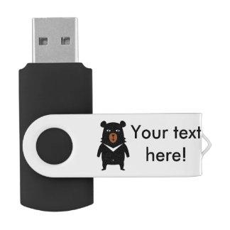 Black bear cartoon USB flash drive