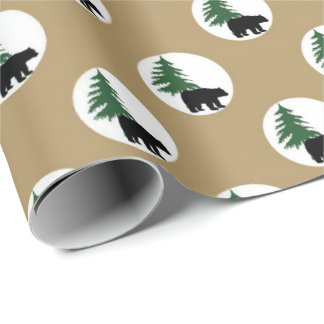 Black bear Country party wrapping paper