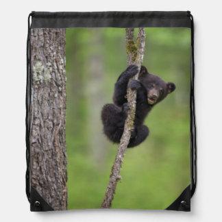 Black bear cub playing, Tennessee Drawstring Bag