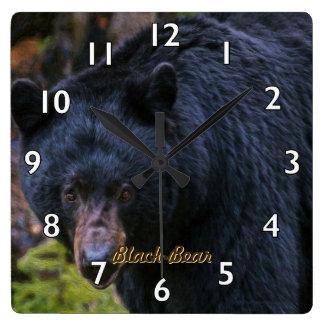 Black Bear Dignity Square Wall Clock