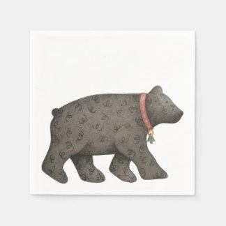 Black Bear Disposable Serviette