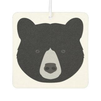 Black Bear Face Car Air Freshener