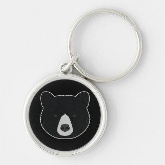 Black Bear Face Key Ring