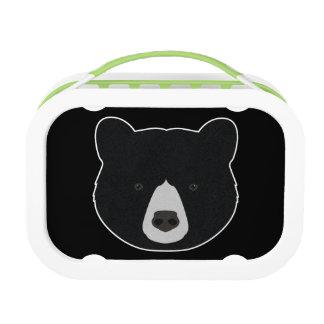 Black Bear Face Lunch Box