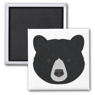 Black Bear Face Magnet