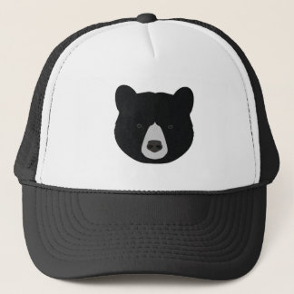 Black Bear Face Trucker Hat