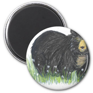 black bear gifts 6 cm round magnet