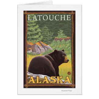 Black Bear in Forest - Latouche, Alaska Card