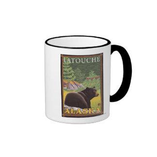 Black Bear in Forest - Latouche, Alaska Mugs