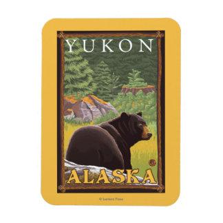 Black Bear in Forest - Yukon, Alaska Magnet