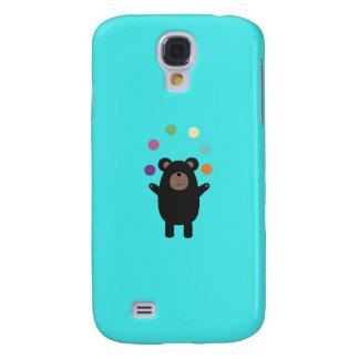 Black Bear juggling Q1Q Galaxy S4 Cases