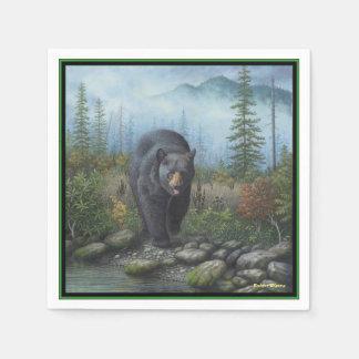 Black Bear Paper Napkin