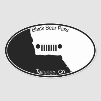 Black Bear Pass - Telluride, Co. Oval Sticker