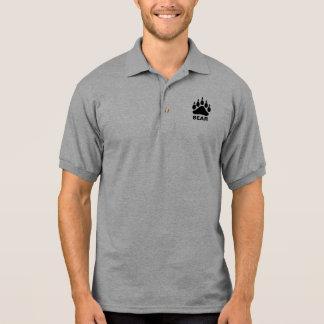 Black Bear Paw Symbol Gay Bear Polo T-shirts
