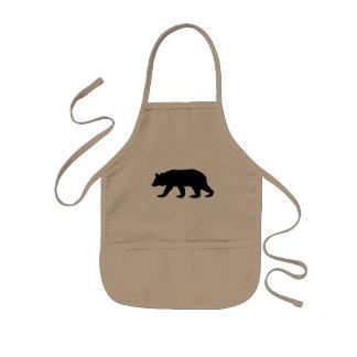Black Bear Silhouette Kids Apron