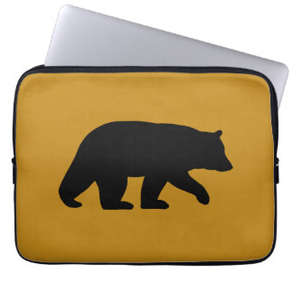 Black Bear Silhouette Laptop Sleeve