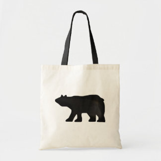 Black Bear Silohette tote bag