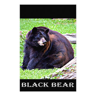 Black Bear Custom Stationery