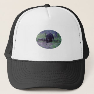 Black bear trucker hat