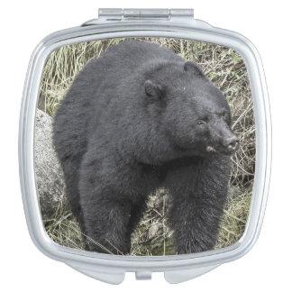 Black bear vanity mirror