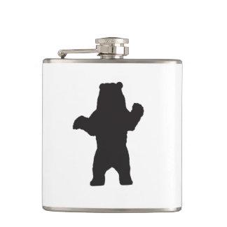 Black Bear Vinyl Wrapped Flask