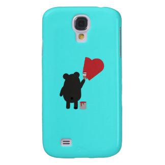 Black Bear with Kite Q1Q Samsung Galaxy S4 Case