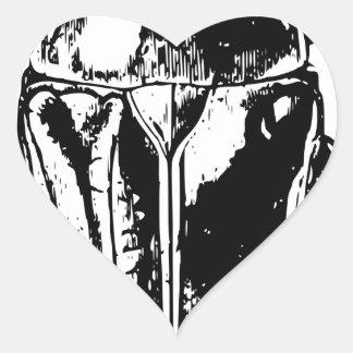Black Beatle Heart Sticker