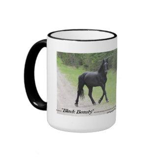 """Black Beauty""  Alberta Wild Horse 2 Mugs"
