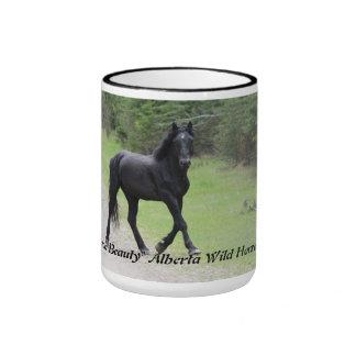 """Black Beauty""  Alberta Wild Horse Mugs"