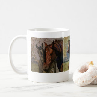 Black Beauty Ginger Horse Book Multiple Paintings Coffee Mug