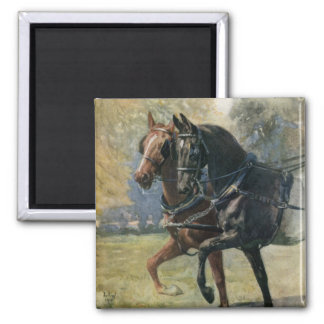 Black Beauty & Ginger Horses from Sewell book Magnet