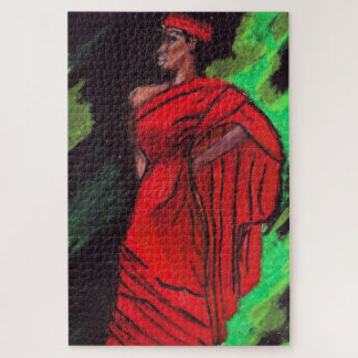 BLACK BEAUTY IN RED puzzle